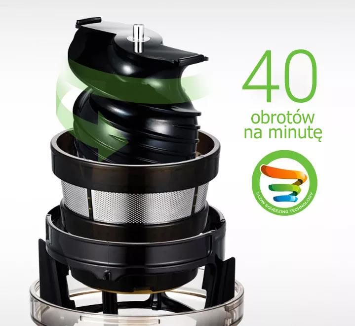 Wyciskarka Hurom HR Swarovski Limited Edition ma Tylko 40 Obrotów Ślimaka na Minutę