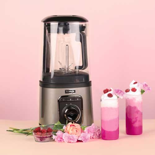 Blender Próżniowy Kuvings Vacuum SV-500 deser malinowy z bitą śmietaną